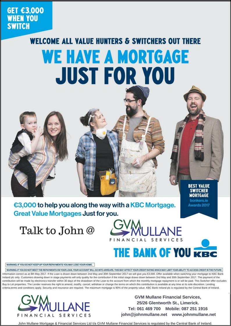 Switch your bank with Mullane - KBC offer